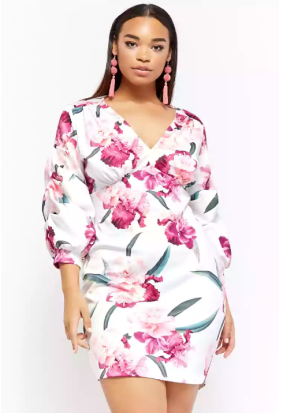 Plus Size Floral Scuba Knit Mini Dress ($52.90)  via Forever 21