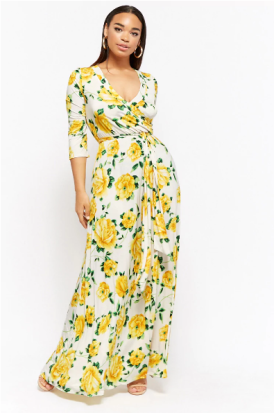 Plus Size Floral Surplice Maxi Dress ($59.90) via Forever 21