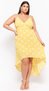 Plus Size Polka Dot High-Low Dress ($29.90) - via Forever 21