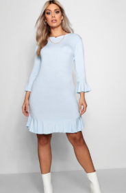Plus Katy Ruffle Hem Bodycon Dress ($27) - via Boohoo