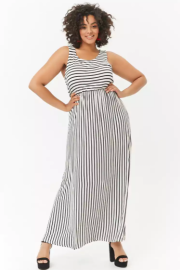Plus Size Striped Maxi Dress ($59.90) - Forever 21