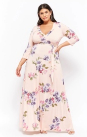 Plus Size Floral Surplice Maxi Dress ($59.90) - Forever 21